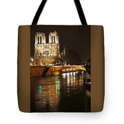 Notre Dame Bridge Paris France Tote Bag