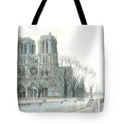 Notre Dame Cathedral In March Tote Bag by Dominic White