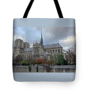 Notre Dame Cathedral In Paris, France Tote Bag