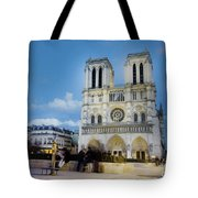 Notre Dame Cathedral Paris 3 Tote Bag