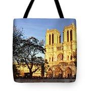 Notre Dame De Paris Facade Tote Bag