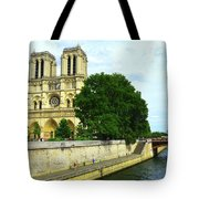 Notre Dame On The Seine Tote Bag