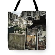 Notre Dame Street Art Tote Bag