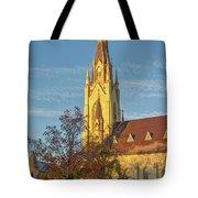 Notre Dame University Basilica Of The Sacred Heart Tote Bag