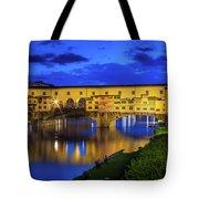 Notte A Ponte Vecchio Tote Bag
