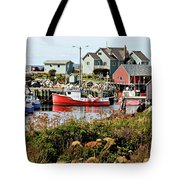 Nova Scotia Fishing Community Tote Bag