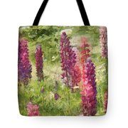 Nova Scotia Lupine Flowers Tote Bag