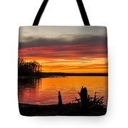 November Sunset Manasquan Reservoir Nj Tote Bag