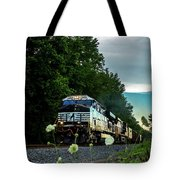 Ns 62w With Blurred Flowers Tote Bag