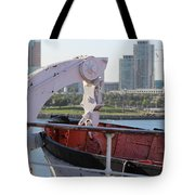 Interior Of Lifeboat Queen Mary Tote Bag