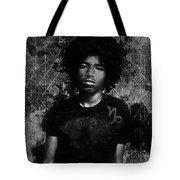 Ntr Rockstar Black And White Tote Bag