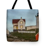 Nubble At Sunset Tote Bag