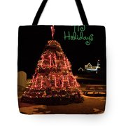 Nubble Light - Happy Holidays Tote Bag