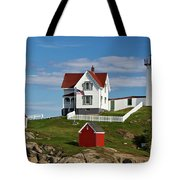 Nubble Lighthouse - D002365 Tote Bag by Daniel Dempster