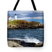 Nubble Lighthouse Tote Bag
