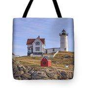 Nubble Lighthouse York Maine Tote Bag