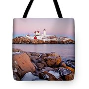 Nubble Winter Dusk Tote Bag by Susan Cole Kelly
