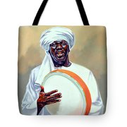 Nubian Musician Player Playing Duff Tote Bag