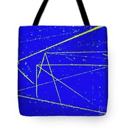 Nuclear Particle Tracks Tote Bag