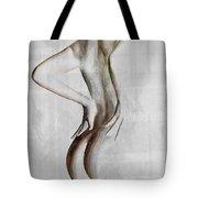 Nude Abstract Greys 2 Tote Bag