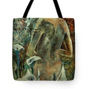 Nude And Arums Tote Bag