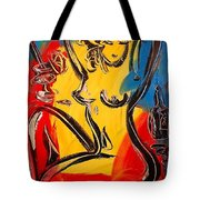Nude And Wine Tote Bag