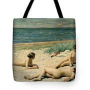 Nude Bathers On The Beach Tote Bag