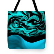 Nude Blue Female Under Abstract Sky Tote Bag