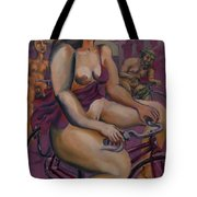 Nude Cyclists With Carracchi Bacchus Tote Bag