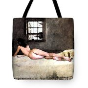 Nude In Bed Tote Bag