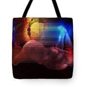 Nude In Glitchscape Tote Bag