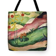 Nude Lying In The Flowers 1910 Tote Bag