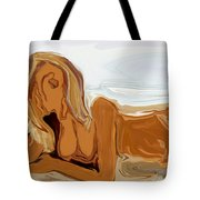 Nude On The Beach Tote Bag