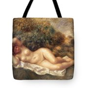 Nude Tote Bag by Pierre Auguste Renoir