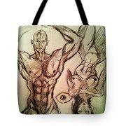 Nude Sketch 49 Tote Bag
