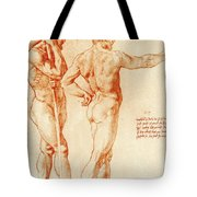 Nude Study Of Two Warriors Tote Bag