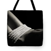 Nude Woman Body And Ropes Tote Bag