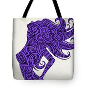 Nude Woman Silhouette Ultraviolet Tote Bag