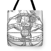Nude Woman With The Zodiac Tote Bag
