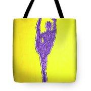 Nude Yoga Girl Violet Tote Bag