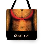 Nudist - Check Out Those Melons - Nudist Grocer Tote Bag by Mike Savad