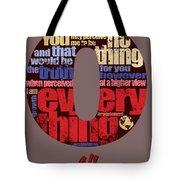 Number 0 Tote Bag