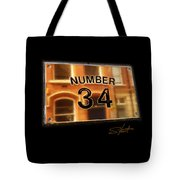 Number 34 Tote Bag