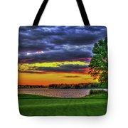 Number 4 The Landing Reynolds Plantation Golf Art Tote Bag