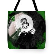 Number Eight Billiards Ball Abstract Tote Bag