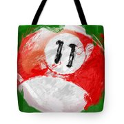 Number Eleven Billiards Ball Abstract Tote Bag by David G Paul