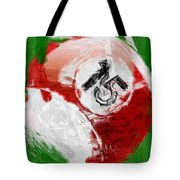Number Fifteen Billiards Ball Abstract Tote Bag