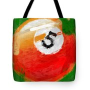 Number Five Billiards Ball Abstract Tote Bag