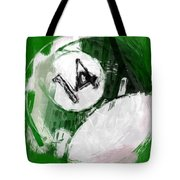 Number Fourteen Billiards Ball Abstract Tote Bag