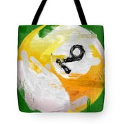 Number Nine Billiards Ball Abstract Tote Bag by David G Paul